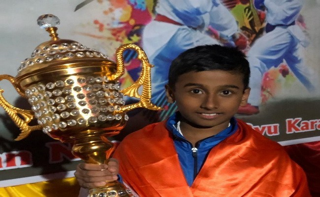 Pansul Ishwar Devadiga won Gold Medal at International Karate Championship