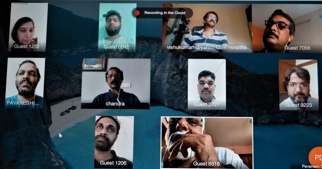 Historic Executive meeting by Video Conferencing by Bangalore Devadiga Sangha(R)